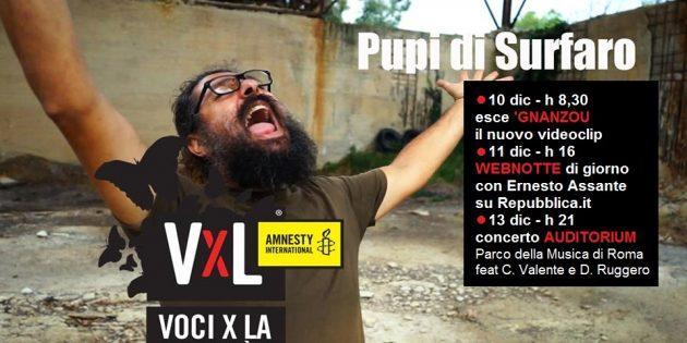 "'Gnanzou ""Voci per la Libertà – una canzone per Amnesty"""
