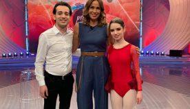 Emanuele d'Angeli e Bernadette ospiti Domenica su RAI 1.