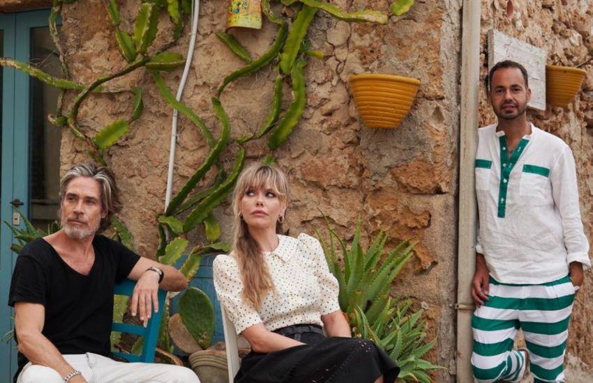 Damiano insieme a Henrik Hansson e Barbara Snellenburg durante le riprese